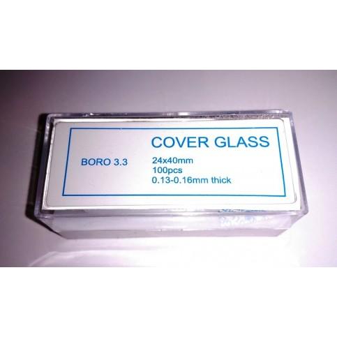 Krycí skla 24x40 mm (100 ks)