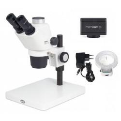 Stereoskopický trinokulární mikroskop s kamerou Model DSTM 161 TPS3