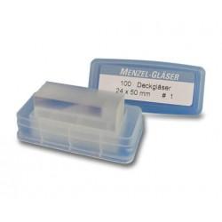 Krycí skla (24x50 mm) - mytá (100 ks)