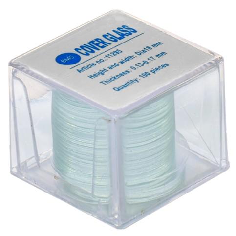 Krycí skla kruhová ø 18 mm (100 ks)